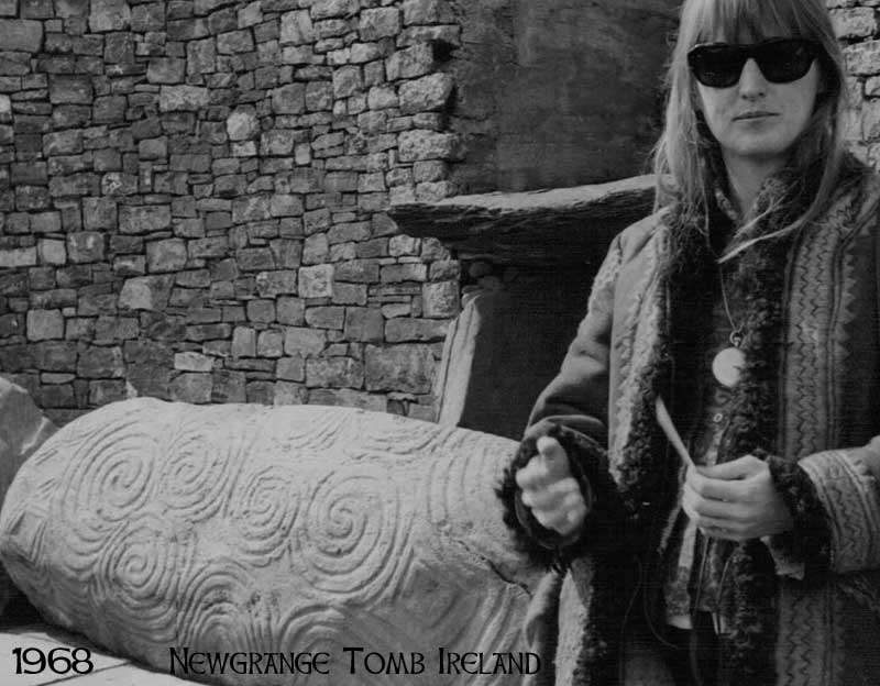 Catherine M. Wilson at Newgrange tomb in Ireland